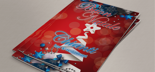Christmas Menu printing and website