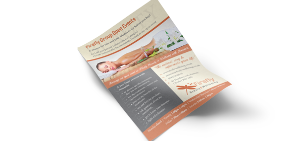 Print and web project for beauty spa