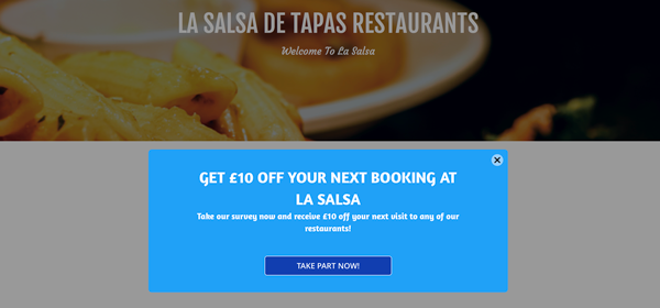 £10 off your next booking with La Salsa tapas restaurants